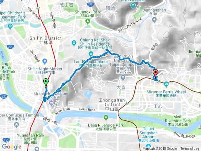 劍潭站-劍潭山-老地方-劍南路站  20180408