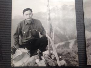 1972、4月武陵四秀克拉葉山,經岳界四大天王二次上山找不到基㸃,本次終於出現了