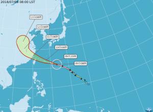 【新聞】颱風瑪莉亞向北台灣侵襲 加強防颱勿到山區