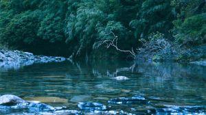 【小嘆息灣】▲ 彎曲延綿的合歡溪上游