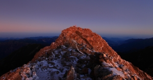 山岳之美 冬季玉山