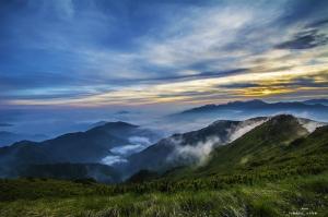 山岳之美-合歡山日落