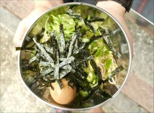 夏日登山の料理食譜=日式蕎麥涼麵+糖心蛋=1010g/2人