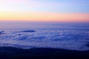 在富士山看見御來光
