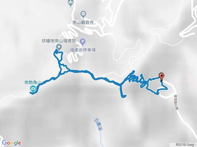 柴埕路60巷→南勢角山O型20180111