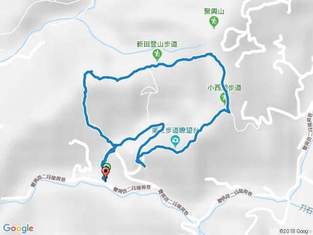 聚興山, 新田登山步道