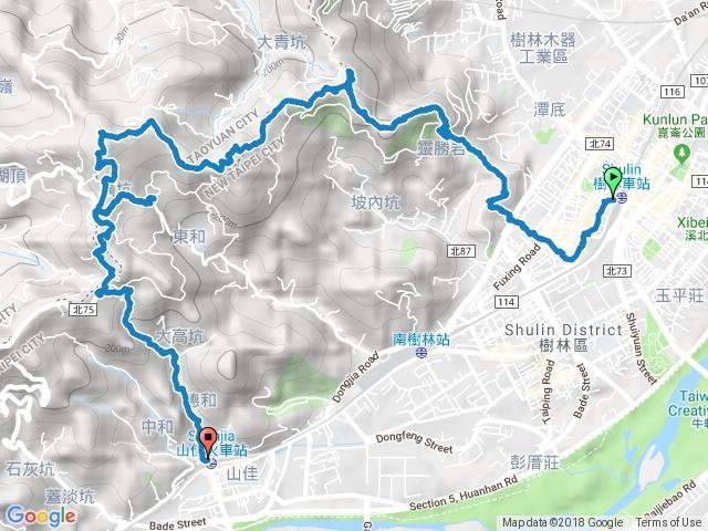 樹林火車站-大同山-青龍嶺-大棟山-山佳火車站