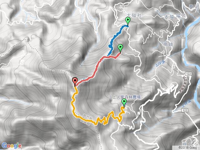 鵝公髻山.三個登山口