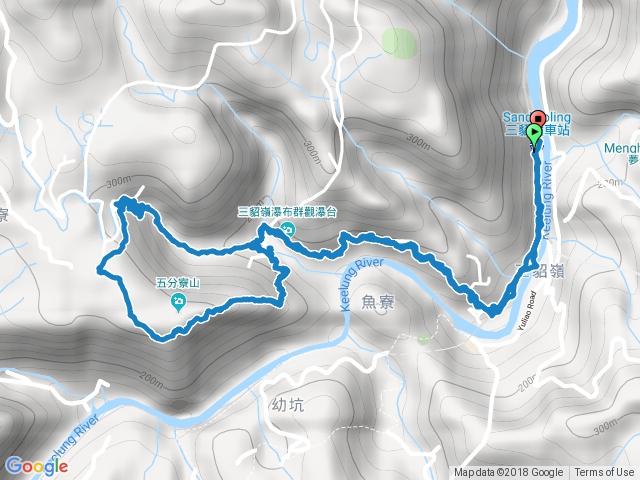 三貂嶺瀑布群P型緃走.gpx