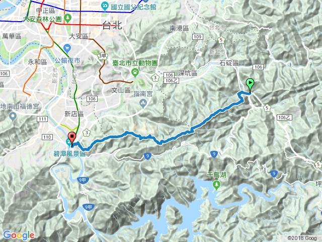 臺北天際線第一段:石碇→新店
