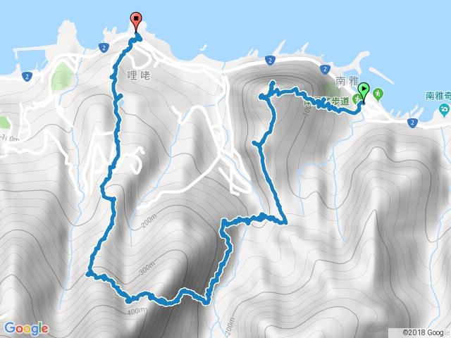 南子吝山一大小鬼瀑布一小錐麓一劍龍稜一鋸齒稜一俯瞰稜一黃金池一79.6k登山口.gpx