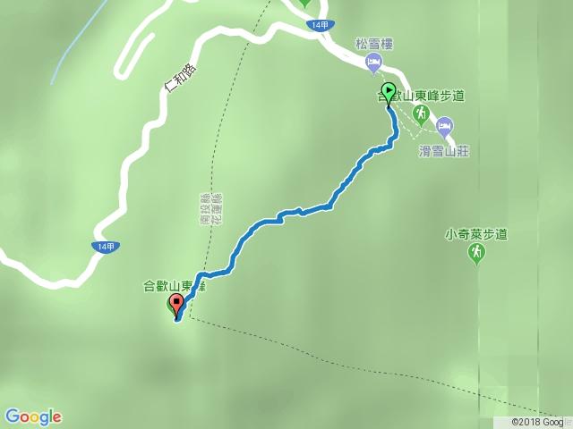 合歡東峰(松雪樓登山口)1061010