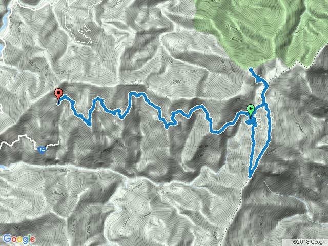 天池山莊-天池-奇萊南峰-天池-南華山-光被八表-天池山莊-屯原登山口