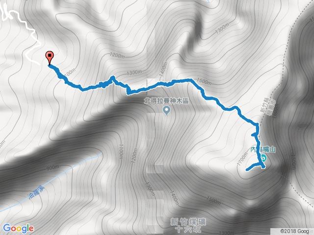 2017.1117:內鳥嘴山 (原路來回不經神木群)