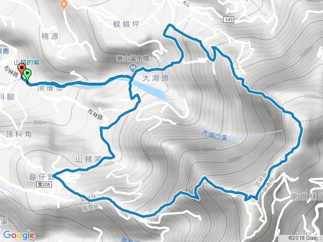 雲嘉大尖山、二尖山環狀O型(小天梯、情人橋)(由土石流教學園區至4-1步道)