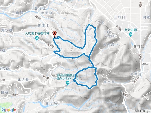 頭嵙山大滿貫12345(&5-1)步道環形一圈