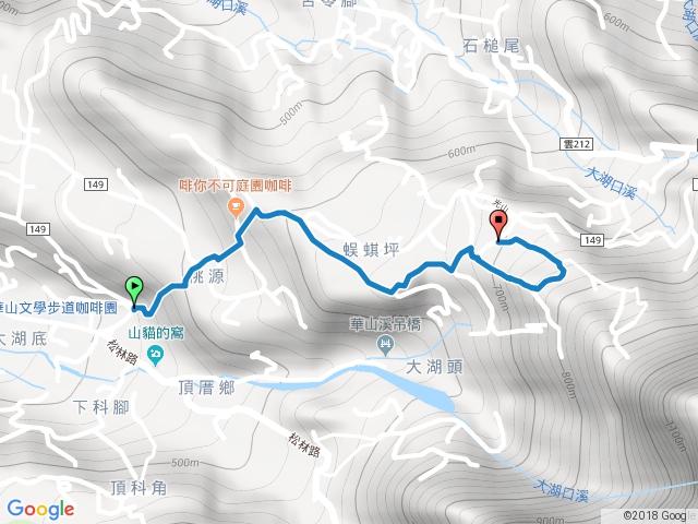 華山步道群(10號系列步道連走)